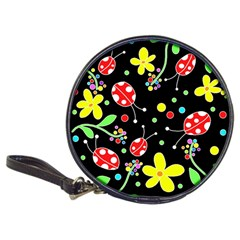 Flowers And Ladybugs Classic 20 Cd Wallets by Valentinaart