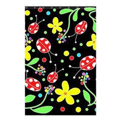 Flowers And Ladybugs Shower Curtain 48  X 72  (small)  by Valentinaart