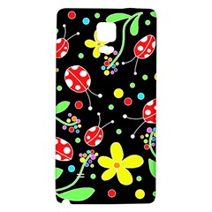 Flowers And Ladybugs Galaxy Note 4 Back Case by Valentinaart