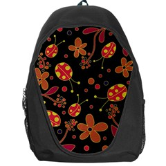 Flowers And Ladybugs 2 Backpack Bag by Valentinaart