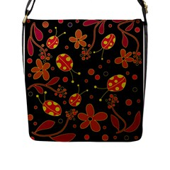 Flowers And Ladybugs 2 Flap Messenger Bag (l)  by Valentinaart