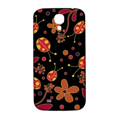 Flowers And Ladybugs 2 Samsung Galaxy S4 I9500/i9505  Hardshell Back Case by Valentinaart