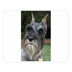Standard Schnauzers Double Sided Flano Blanket (Large)  by TailWags
