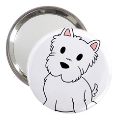 Westie Cartoon 3  Handbag Mirrors by TailWags
