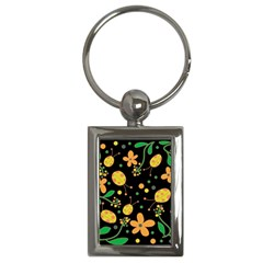 Ladybugs And Flowers 3 Key Chains (rectangle)  by Valentinaart