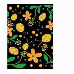 Ladybugs And Flowers 3 Large Garden Flag (two Sides) by Valentinaart