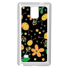 Ladybugs and flowers 3 Samsung Galaxy Note 4 Case (White) by Valentinaart