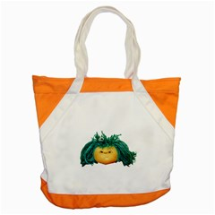 Angry Girl Doll Accent Tote Bag by dflcprints