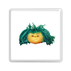 Angry Girl Doll Memory Card Reader (square)  by dflcprints