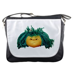 Angry Girl Doll Messenger Bags by dflcprints