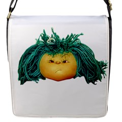 Angry Girl Doll Flap Messenger Bag (s) by dflcprints