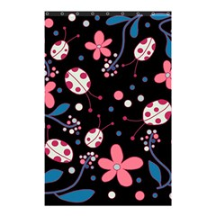 Pink Ladybugs And Flowers  Shower Curtain 48  X 72  (small)  by Valentinaart