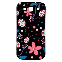 Pink Ladybugs And Flowers  Samsung Galaxy S3 S Iii Classic Hardshell Back Case by Valentinaart
