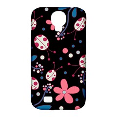 Pink Ladybugs And Flowers  Samsung Galaxy S4 Classic Hardshell Case (pc+silicone) by Valentinaart