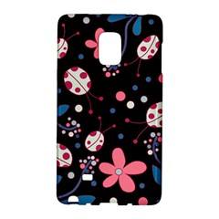Pink Ladybugs And Flowers  Galaxy Note Edge by Valentinaart
