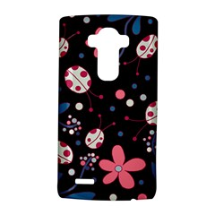 Pink Ladybugs And Flowers  Lg G4 Hardshell Case by Valentinaart