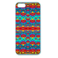 Peace Flowers And Rainbows In The Sky Apple Seamless Iphone 5 Case (color) by pepitasart