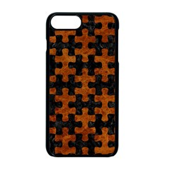 Puzzle1 Black Marble & Brown Marble Apple Iphone 7 Plus Seamless Case (black)