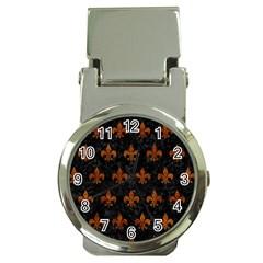 Royal1 Black Marble & Brown Marble (r) Money Clip Watch by trendistuff