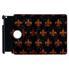 Royal1 Black Marble & Brown Marble (r) Apple Ipad 2 Flip 360 Case by trendistuff