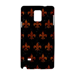 Royal1 Black Marble & Brown Marble (r) Samsung Galaxy Note 4 Hardshell Case by trendistuff