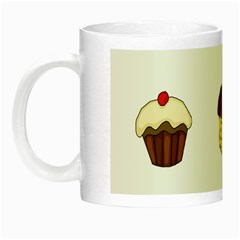 Colorful Cupcakes  Night Luminous Mugs by Valentinaart