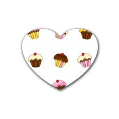 Colorful Cupcakes  Heart Coaster (4 Pack)  by Valentinaart