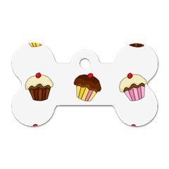 Colorful Cupcakes  Dog Tag Bone (two Sides) by Valentinaart