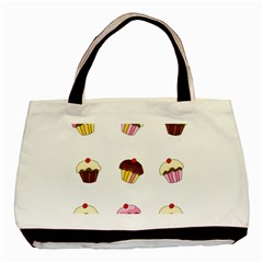 Colorful Cupcakes  Basic Tote Bag (two Sides) by Valentinaart