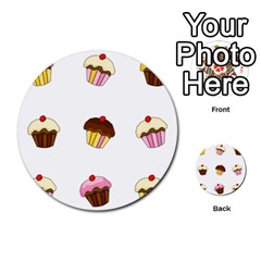 Colorful Cupcakes  Multi Purpose Cards (round)  by Valentinaart
