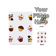 Colorful Cupcakes  Playing Cards 54 (mini)  by Valentinaart