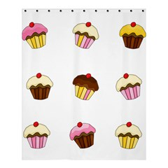 Colorful Cupcakes  Shower Curtain 60  X 72  (medium)  by Valentinaart