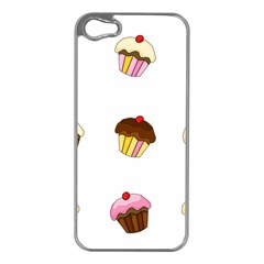 Colorful Cupcakes  Apple Iphone 5 Case (silver) by Valentinaart