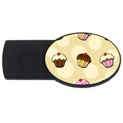 Colorful Cupcakes Pattern Usb Flash Drive Oval (2 Gb)  by Valentinaart