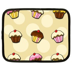 Colorful Cupcakes Pattern Netbook Case (large) by Valentinaart