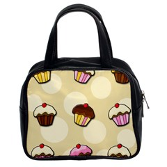 Colorful Cupcakes Pattern Classic Handbags (2 Sides) by Valentinaart