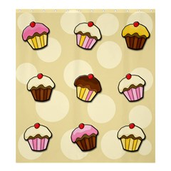 Colorful Cupcakes Pattern Shower Curtain 66  X 72  (large)  by Valentinaart
