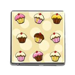 Colorful Cupcakes Pattern Memory Card Reader (square) by Valentinaart