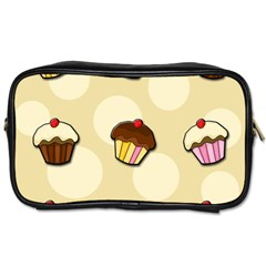 Colorful Cupcakes Pattern Toiletries Bags by Valentinaart
