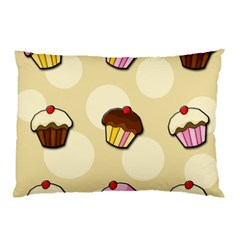 Colorful Cupcakes Pattern Pillow Case (two Sides) by Valentinaart