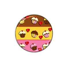 Love Cupcakes Hat Clip Ball Marker (4 Pack) by Valentinaart