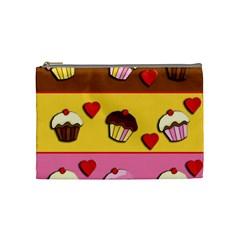 Love Cupcakes Cosmetic Bag (medium)  by Valentinaart