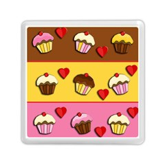 Love Cupcakes Memory Card Reader (square)  by Valentinaart