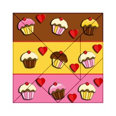 Love Cupcakes Acrylic Tangram Puzzle (6  X 6 ) by Valentinaart