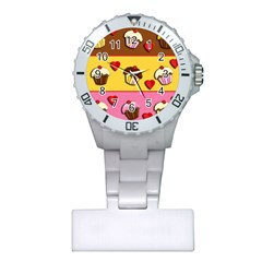 Love Cupcakes Plastic Nurses Watch by Valentinaart