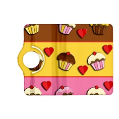 Love Cupcakes Kindle Fire Hd (2013) Flip 360 Case by Valentinaart