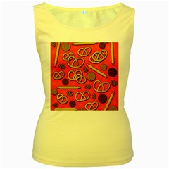 Bakery Women s Yellow Tank Top by Valentinaart