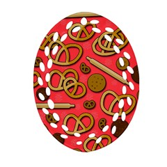 Bakery Oval Filigree Ornament (2 Side)  by Valentinaart