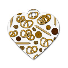 Bakery 3 Dog Tag Heart (one Side) by Valentinaart