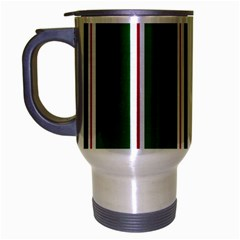 Green Line Travel Mug (silver Gray) by AnjaniArt